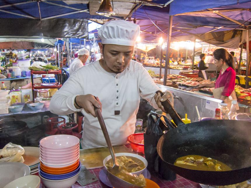 Fresh meal at Kota Kinabalu